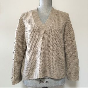 Anthropologie Indi & Cold chunky knit sweater